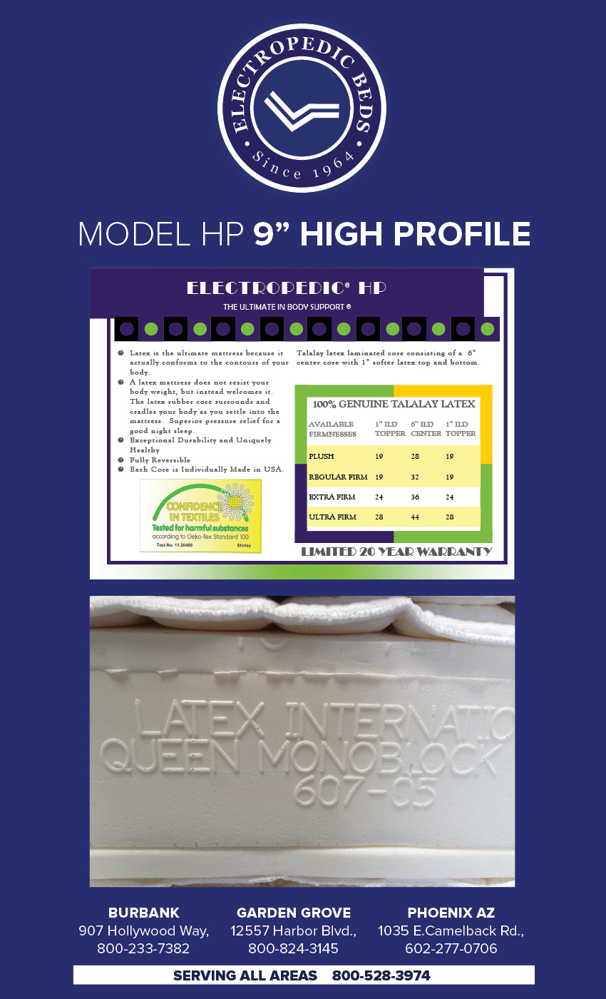 natural organic beds phoenix az High Profile Latex Mattress